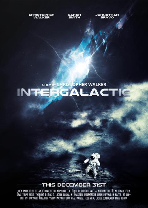 Intergalactic - Movie Poster by VectorMediaGR