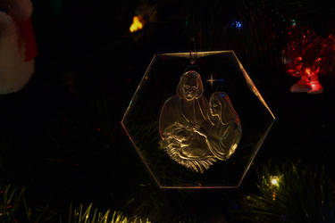 Nativity Glass Ornament by Caleg0