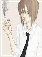 just smoking by VaMpI-SaN