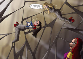 Tanya and Bubbles trapped in a web again! by paulm131