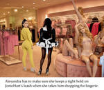 Alexandra takes JonieHart shopping for lingerie