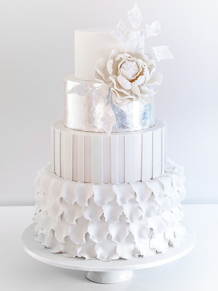 Silver Petal Cake by cococakes