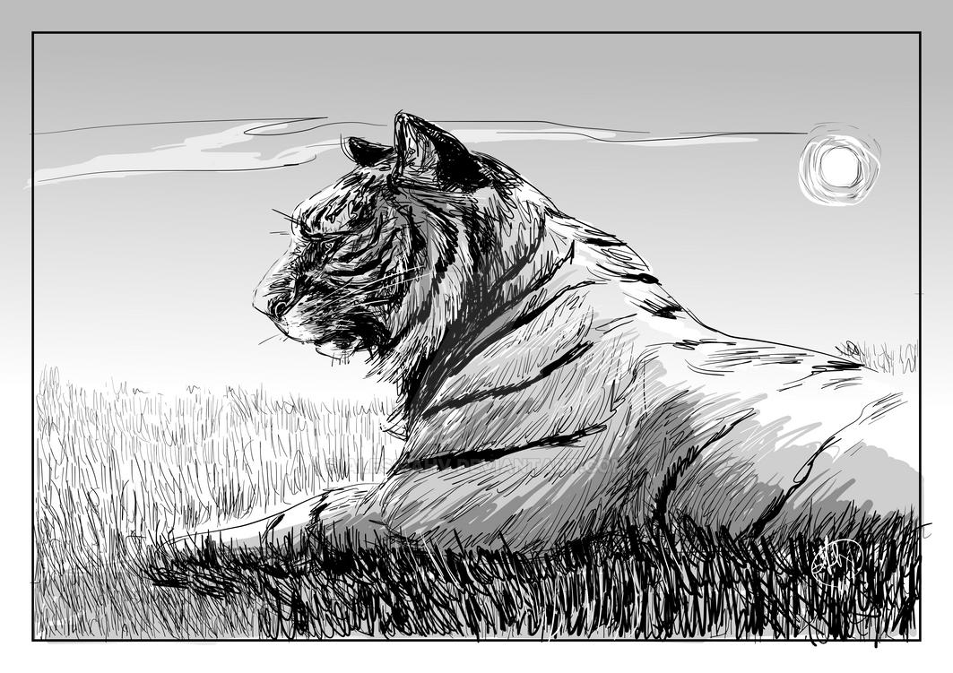 Tiger study by AlessiaHV