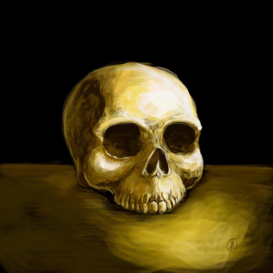 Skull - W.I.P. by AlessiaHV