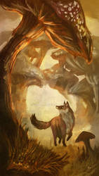 FAIRYTALES WEEK: THE FOX AND THE MUSHROOM FOREST
