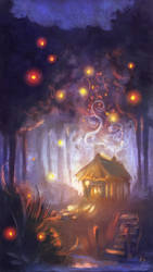 FAIRYTALES WEEK: THE TINY HUT IN THE WOODS