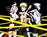 Sakura, Naruto and Sasuke