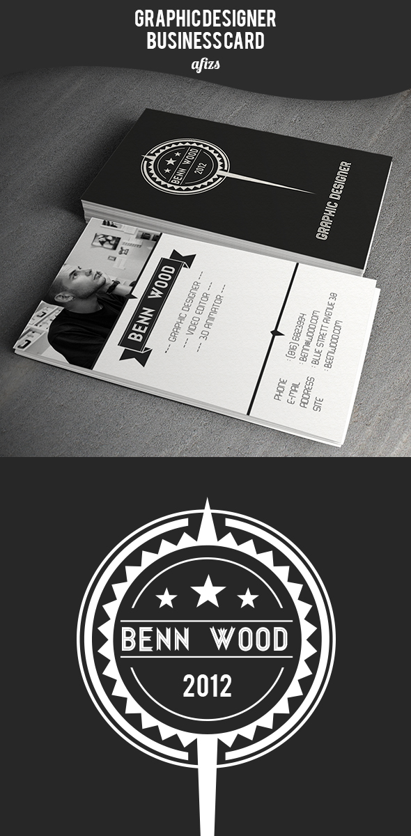Creative Badges Business Card by afizs