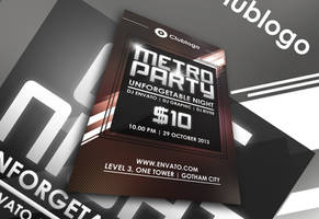 Minimalist Party Flyer by afizs