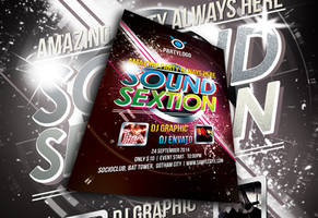 Sound Sextion Party Flyer by afizs