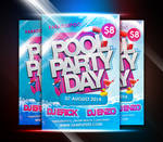 Pool Party Day Flyer