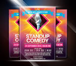 Colorful StandUp Comedy Event Flyer
