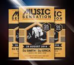 Music Sensation Party Flyer