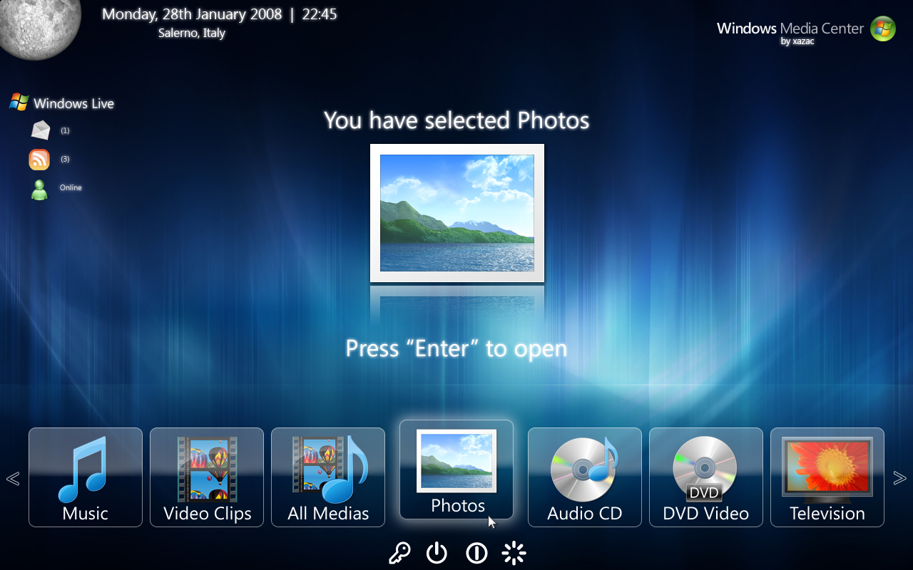Windows Media Center 2008 by xazac87 on DeviantArt