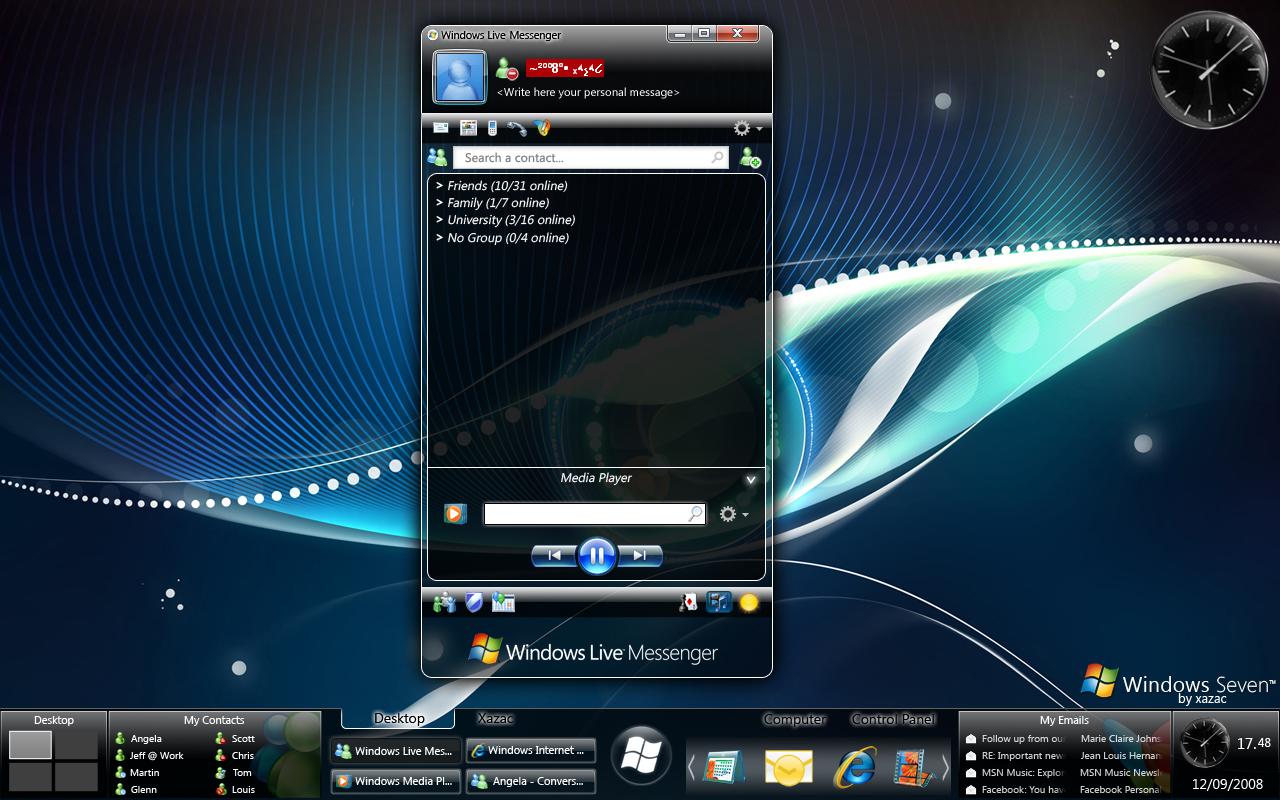 Windows 7 - Longhorn Inspired by xazac87