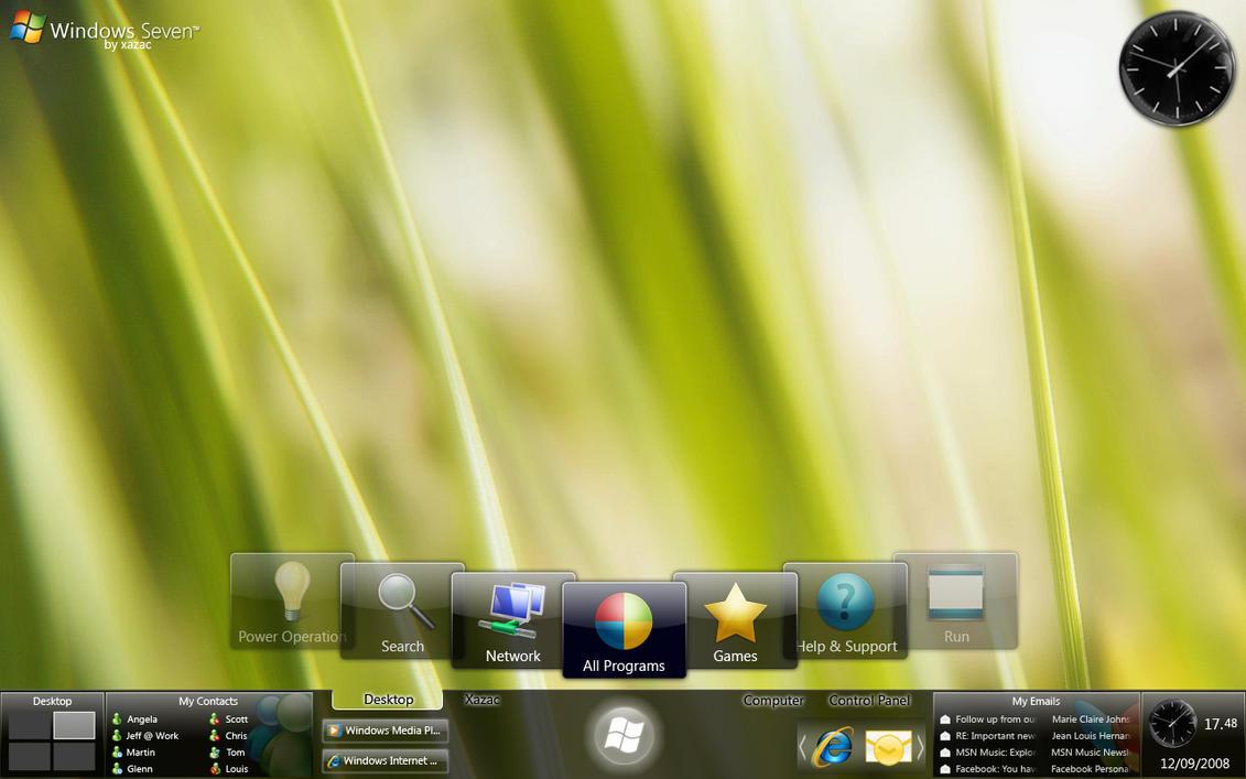 Windows 7 - L.I. Start Menu by xazac87