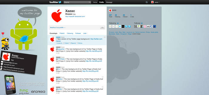 Twitter Background - Cloud