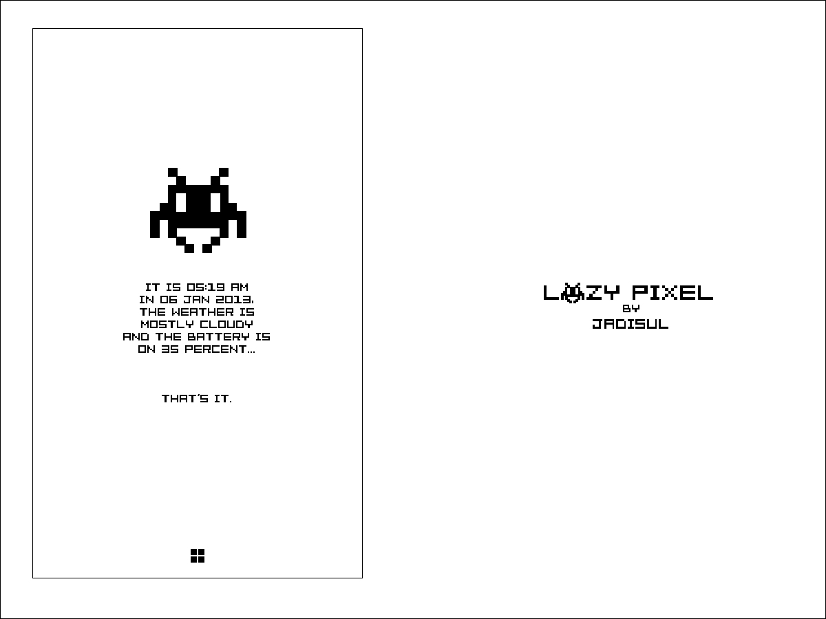 Lazy Pixel by jadisul
