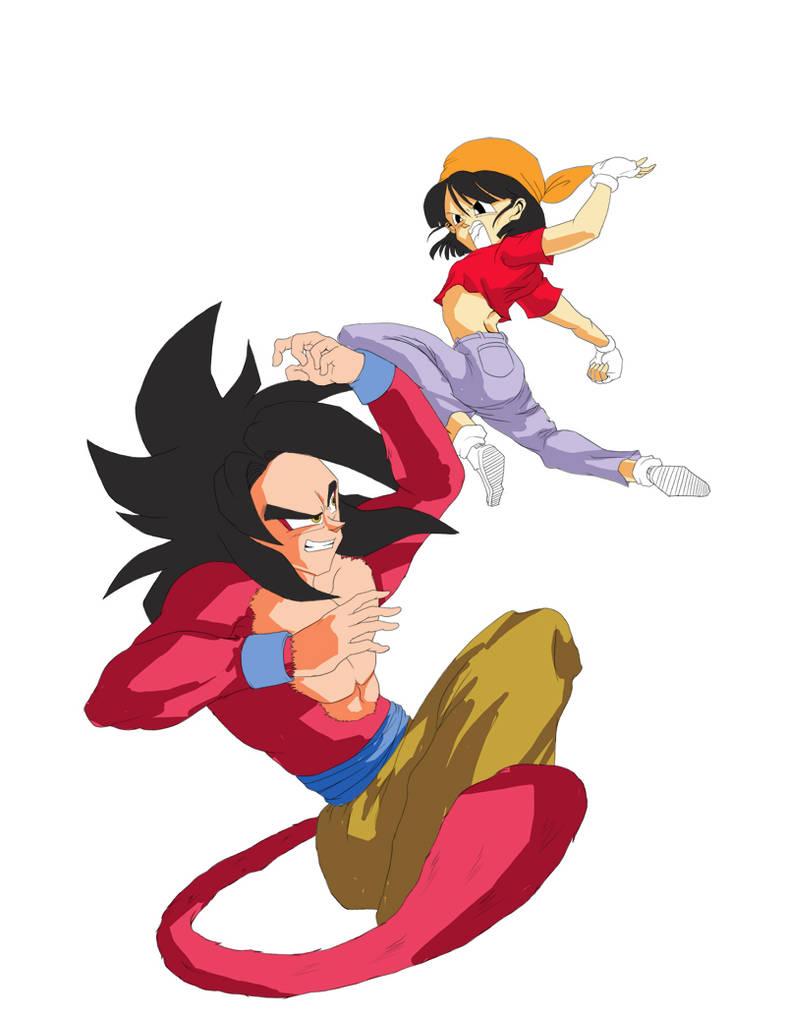 Goku and Pan by nijuuhachi on DeviantArt