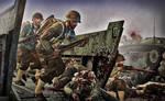 'Landing On Iwo Jima..'