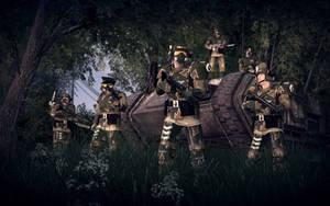 A Squad of Kasrkins Escort a IG Chimera by Slim-Charles
