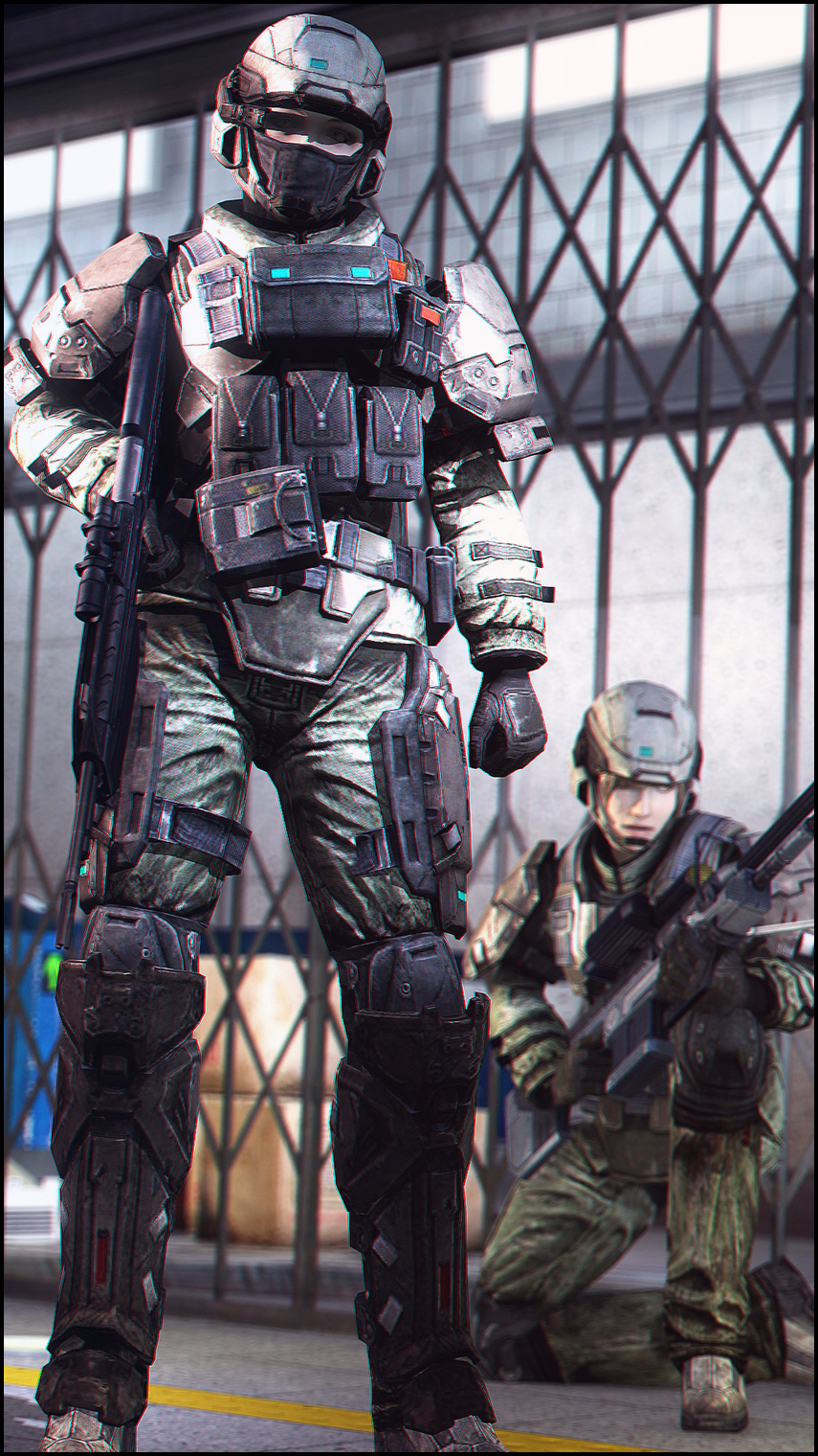 UNSC Army Trooper by Slim-Charles