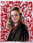 Hermione Granger *watercolour* by xxMagicGlowxx