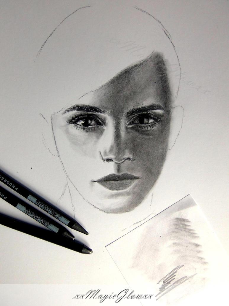 Emma Watson - work in progress by xxMagicGlowxx