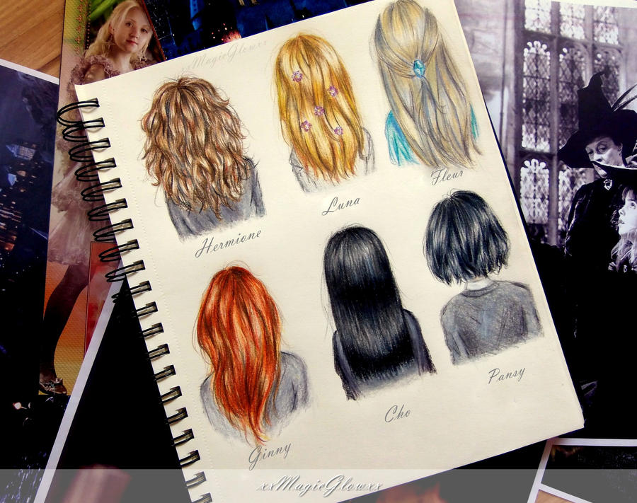 potter girls hairstyles by xxMagicGlowxx
