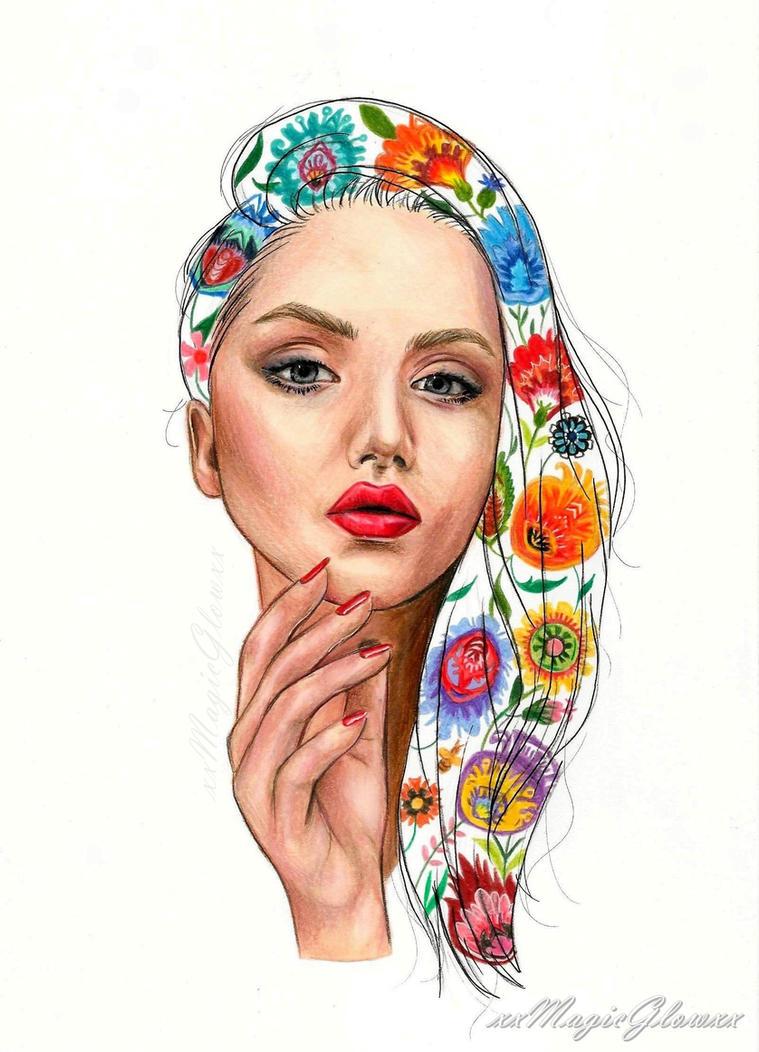 Polish folk portrait by xxMagicGlowxx