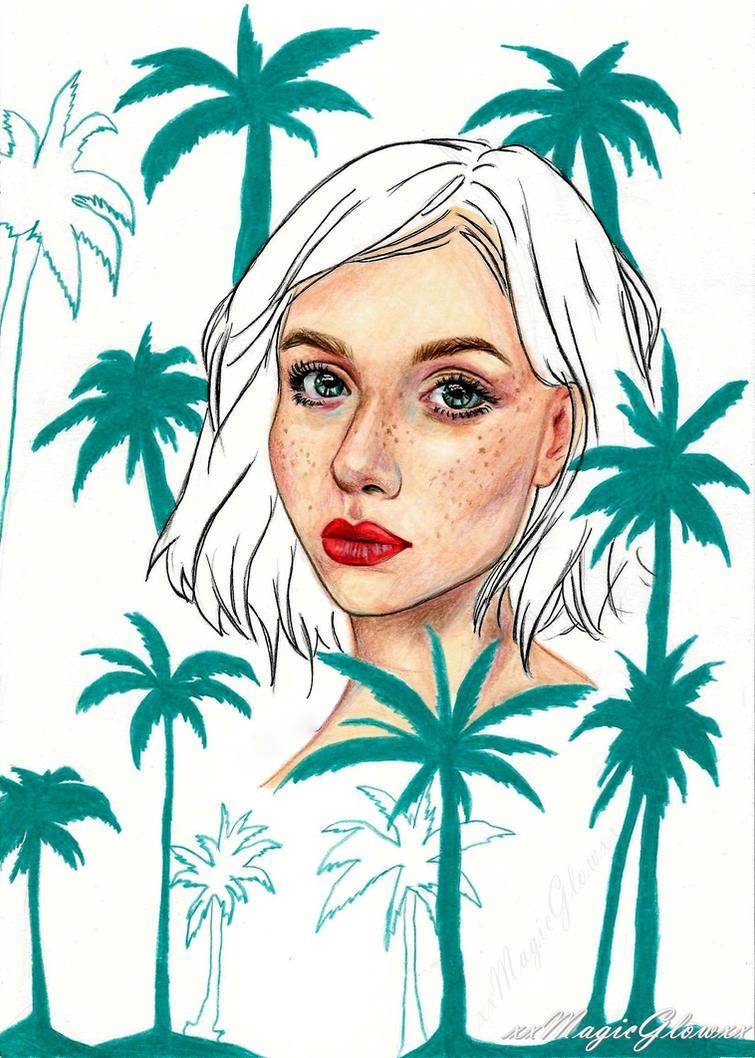 Palm trees by xxMagicGlowxx