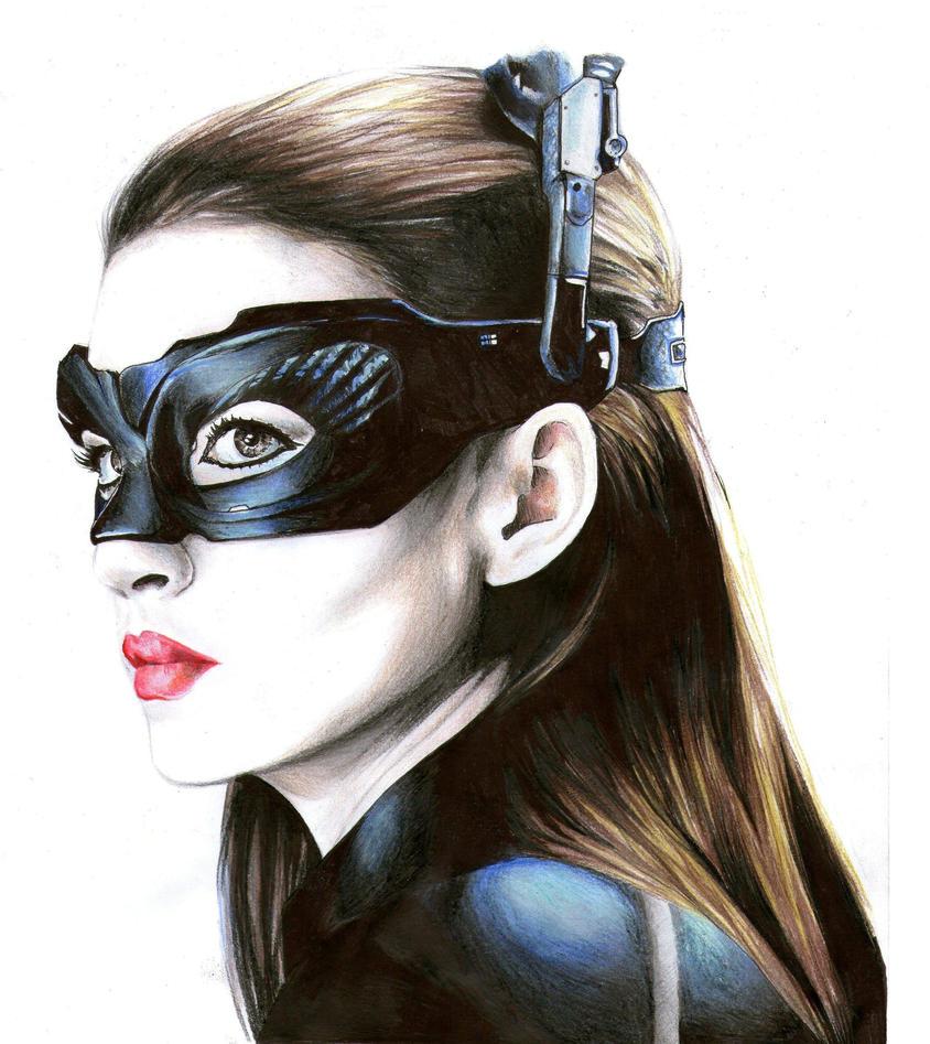 Anne Hathaway Drawing: Anne Hathaway- Catwoman By AryNeg On DeviantArt
