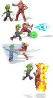 Ultimate Team Up- Luigi and Ken