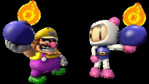 Render-Wario vs Bomberman