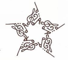 Music Star Symbol by Emberse