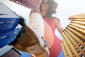 Giantess Marie-Claire Gives the City the Boot
