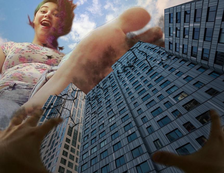 Giantess Anya's City Crush by dochamps