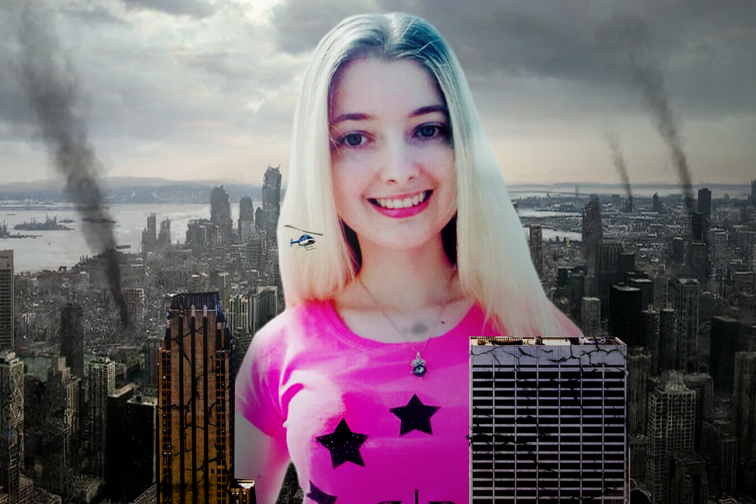 Giantess Ann Smiles for the Camera by dochamps