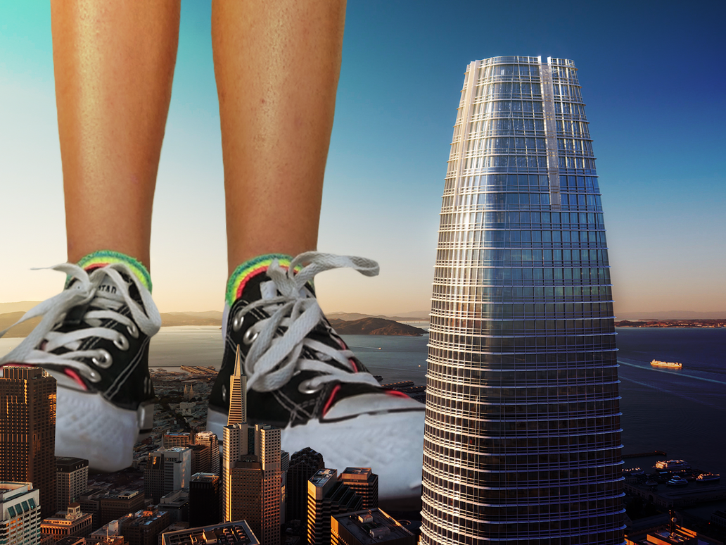 Giantess Kristin Stands Tall by dochamps