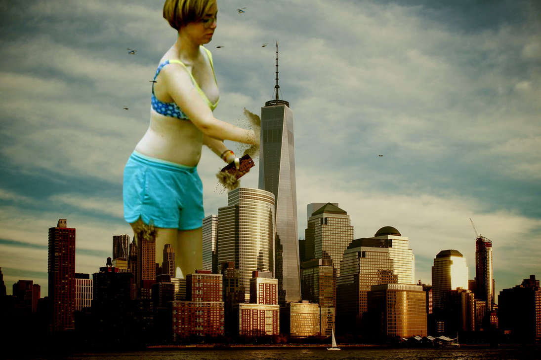 Giantess Ellie's City Rampage by dochamps