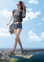 Giantess Kendall Jenner by dochamps