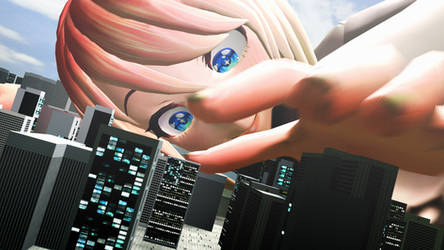 Giantess Sayori - Doki Doki Giantess Club by dochamps