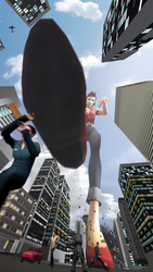 [Collab] Giantess D.Va by dochamps