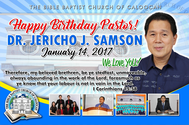 Happy Birthday Pastor Dr Jericho Samson by iamphotogabier on