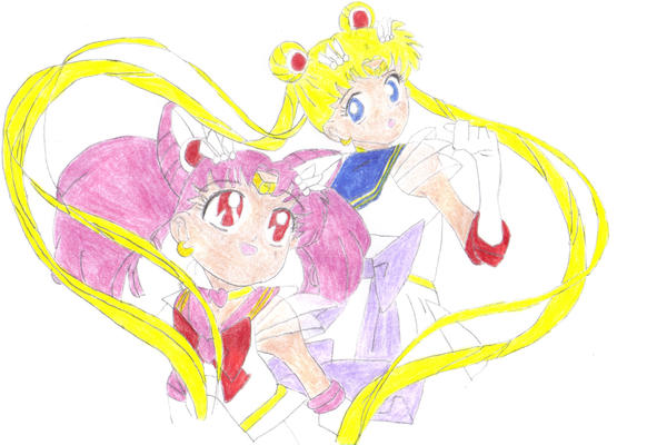 Sailor Moon and Chibi Moon by SOLmaster11
