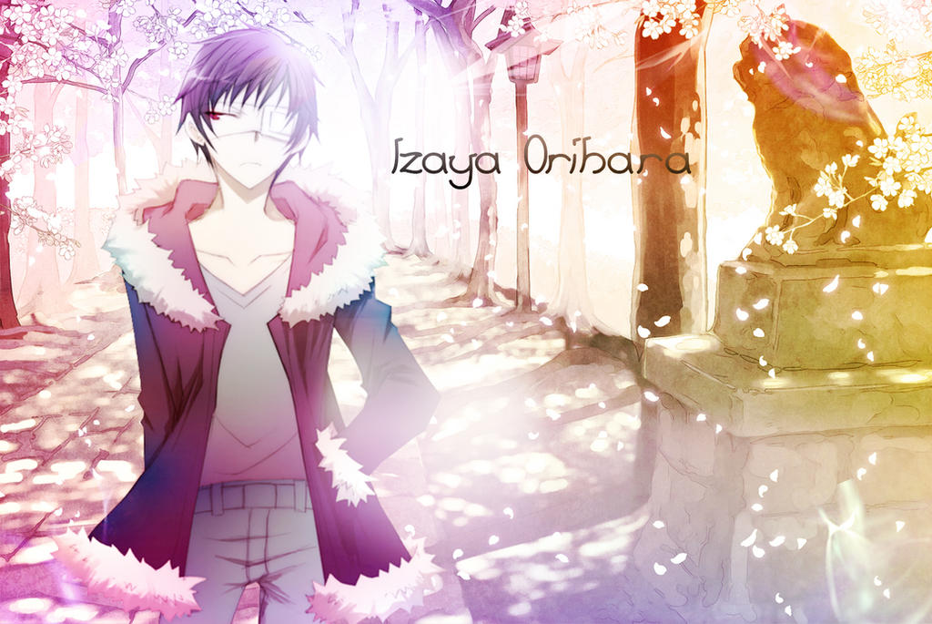 Kisagi's Graphic stuff xD Izaya_orihara_sakura_trees_by_17flip-d6c1mzm