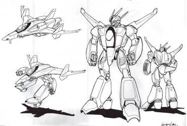 Robotech Southern Cross Veritech by glane21