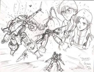 Robotech Malcontent Uprisings - Macross by glane21