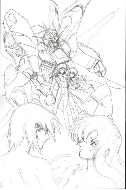 Gundam Destiny Pencils 1 by glane21