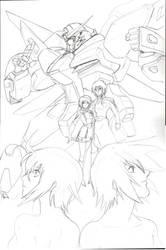 Gundam Destiny 2 by glane21